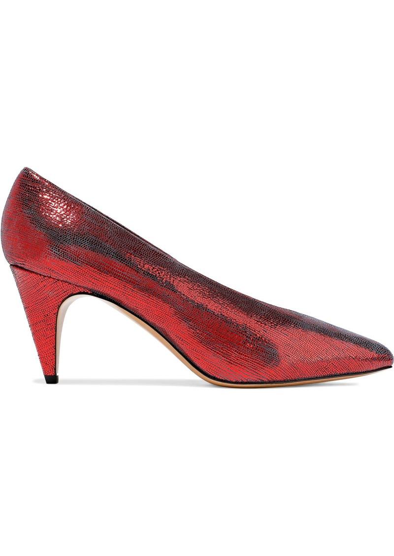 Isabel Marant Woman Metallic Lizard-effect Leather Pumps Red