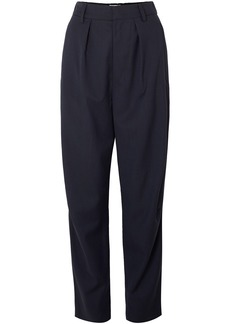 Isabel Marant Woman Nimura Houndstooth Wool Tapered Pants Midnight Blue