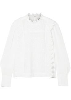 Isabel Marant Woman Nutston Broderie Anglaise Ramie Blouse White