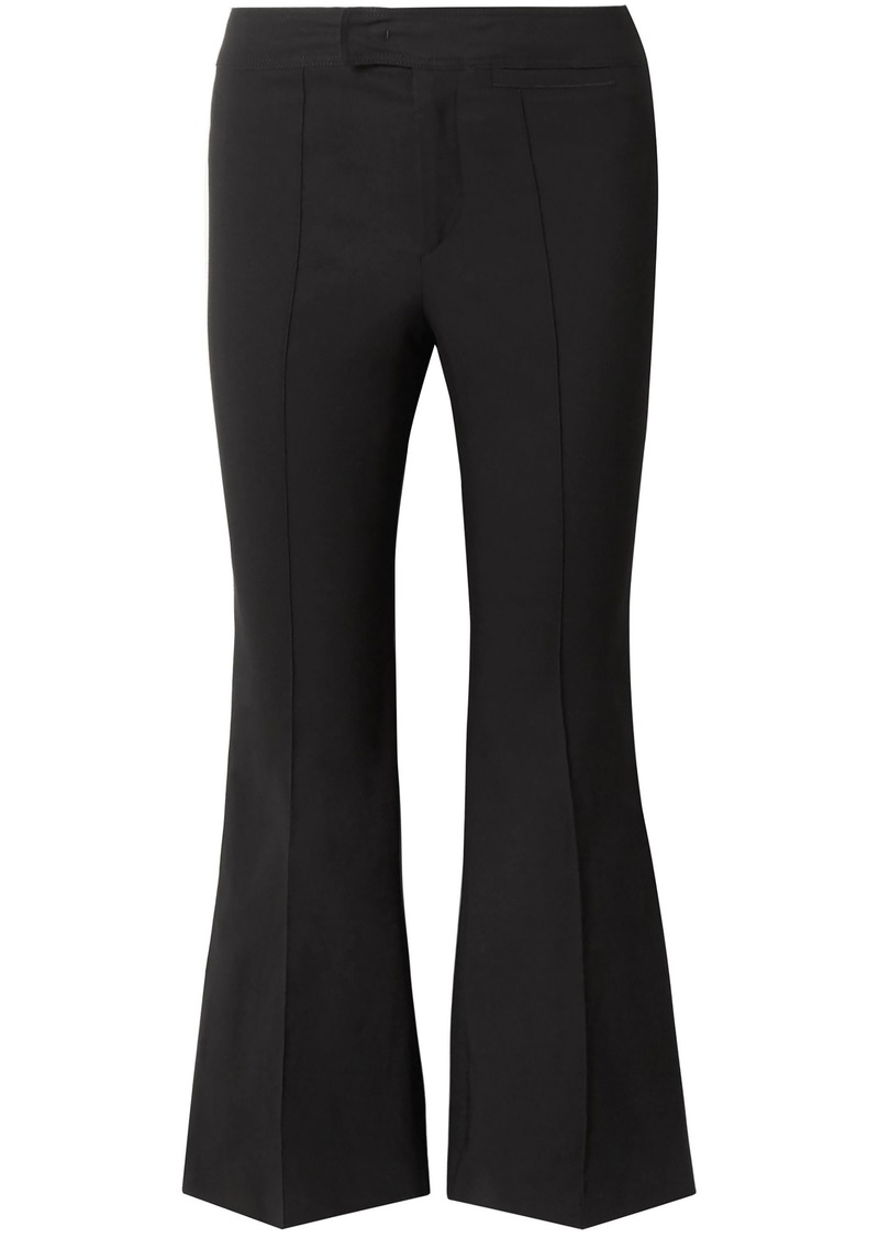 Isabel Marant Woman Nyree Cotton-blend Cady Kick-flare Pants Black