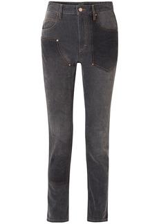 Isabel Marant Woman Orrick Paneled High-rise Slim-leg Jeans Black