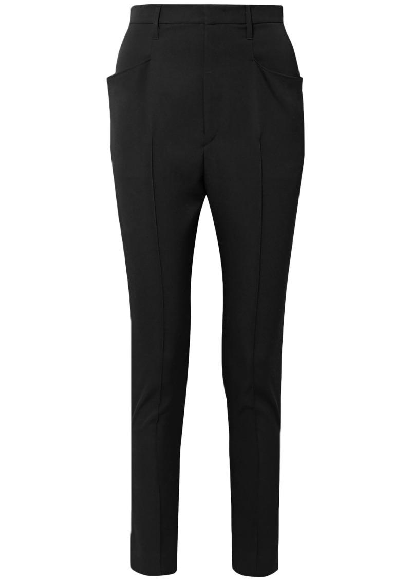 Isabel Marant Woman Rayor Wool Tapered Pants Black