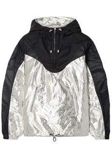 Isabel Marant Woman Richie Two-tone Metallic Shell Hooded Jacket Black
