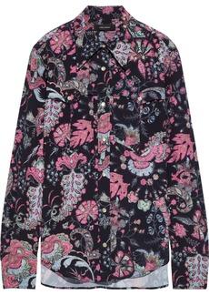 Isabel Marant Woman Tania Printed Crepe De Chine Shirt Black