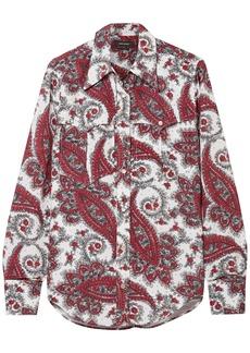 Isabel Marant Woman Tania Printed Crepe De Chine Shirt White
