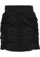 Isabel Marant Woman Upi Ruched Poplin Mini Skirt Black