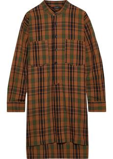 Isabel Marant Woman Ziggy Checked Cotton And Linen-blend Mini Shirt Dress Brown