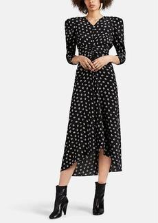 Isabel Marant Women's Albi Floral Silk Crepe Midi-Dress