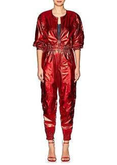Isabel Marant Women's Athina Silk Tech-Lamé Jumpsuit