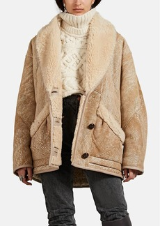 Isabel Marant Women's Audrina Shearling Coat