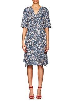 Isabel Marant Women's Brodie Floral Stretch-Silk Dress