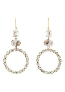 Isabel Marant Women's Crystal Triple-Drop Earrings - Silver
