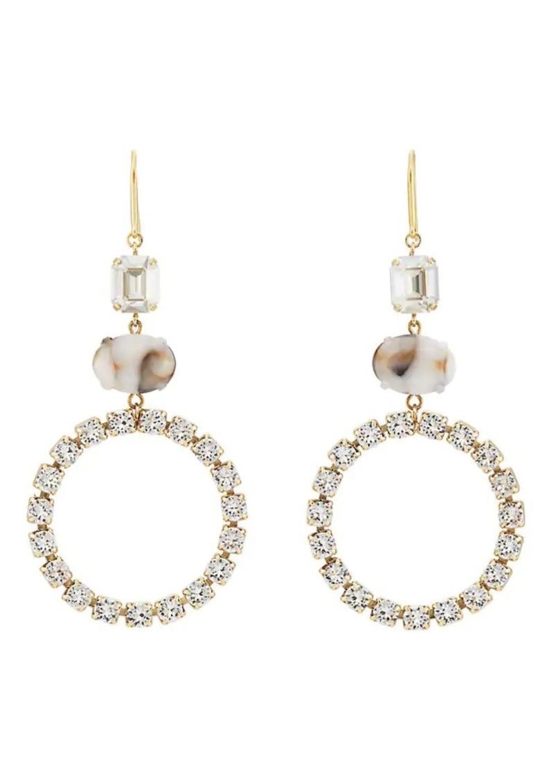 Isabel Marant Women's Crystal Triple-Drop Earrings - Silver