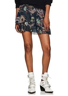 Isabel Marant Women's Dahlia Dragon-Print Silk Skirt