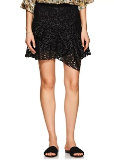 Isabel Marant Women's Daley Eyelet Faux-Leather Miniskirt