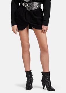 Isabel Marant Women's Delilah Velvet Miniskirt