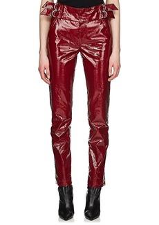 Isabel Marant Women's Ennya Laminated Cotton-Linen Trousers