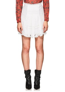 Isabel Marant Women's Floral-Embroidered Voile Miniskirt