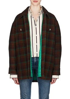 Isabel Marant Women's Harvey Plaid Wool Flannel Coat