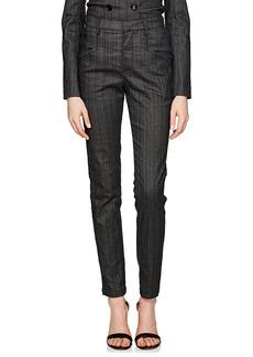 Isabel Marant Women's Karen Pinstriped Denim Trousers