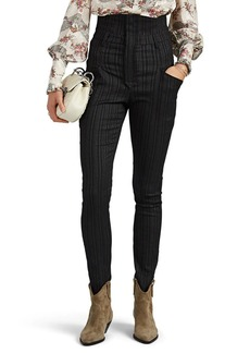 Isabel Marant Women's Karly Pinstriped Slim Trousers