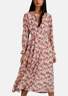 Isabel Marant Women's Lympia Graphic Stretch-Silk Shirtdress
