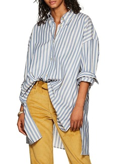 Isabel Marant Women's Maca Striped Oversized Button-Down Blouse