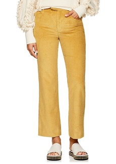 Isabel Marant Women's Mereo Cotton Corduroy High-Rise Pants