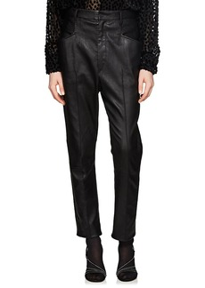 Isabel Marant Women's Modena Leather Trousers