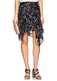 Isabel Marant Women's Myles Floral Silk Asymmetric Skirt