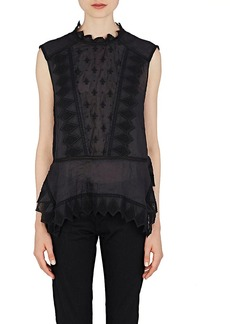 Isabel Marant Women's Nust Embroidered Voile Top