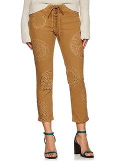 Isabel Marant Women's Ruper Eyelet Slim Crop Jeans