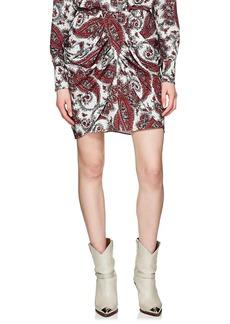 Isabel Marant Women's Tilena Paisley Ruched Miniskirt