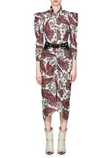 Isabel Marant Women's Tizy Paisley Ruched Dress