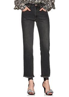 Isabel Marant Women's Udeno Swarovski-Embellished Crop Jeans