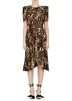 Isabel Marant Women's Ulia Leopard-Print Velour Dress