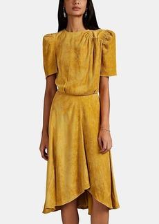 Isabel Marant Women's Ulia Pleated Corduroy Dress