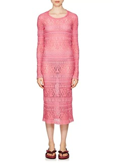 Isabel Marant Women's Youri Cotton-Blend Macramé Fitted Dress