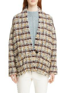 Isabel Marant Wool Blend Tweed Coat