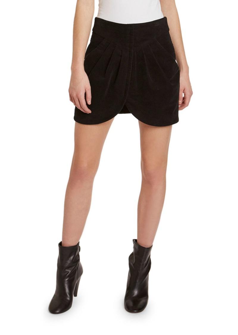 Isabel Marant Wool High-Rise Tulip Mini Skirt