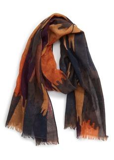 Isabel Marant Yaele Ikat Print Wool Scarf