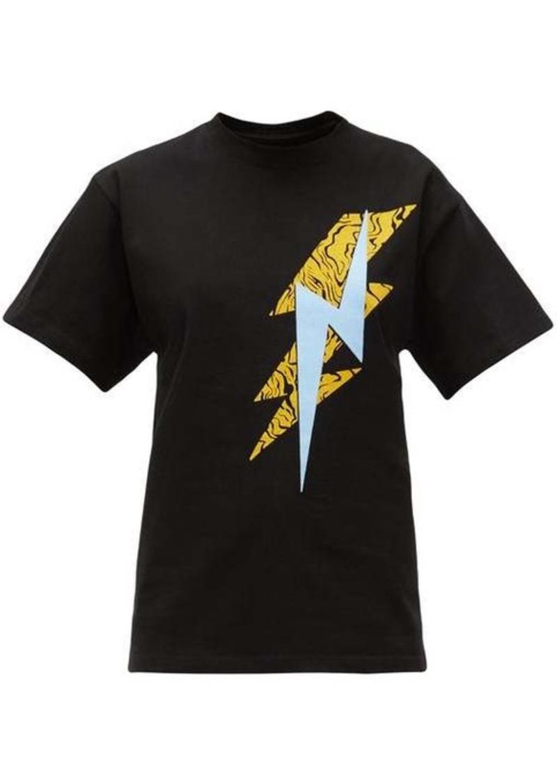 Isabel Marant Yates lightning bolt cotton T-shirt