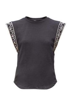 Isabel Marant Yelani studded sleeveless cotton T-shirt