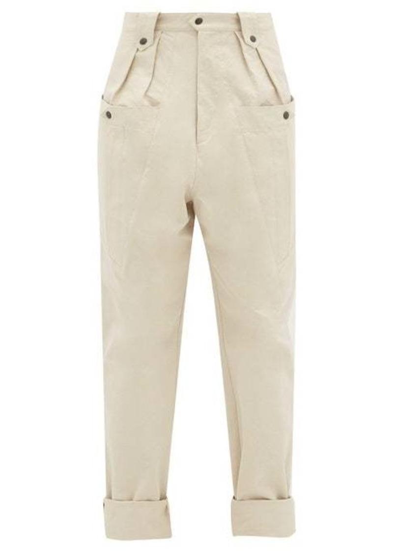 Isabel Marant Yerris front-pocket cotton trousers