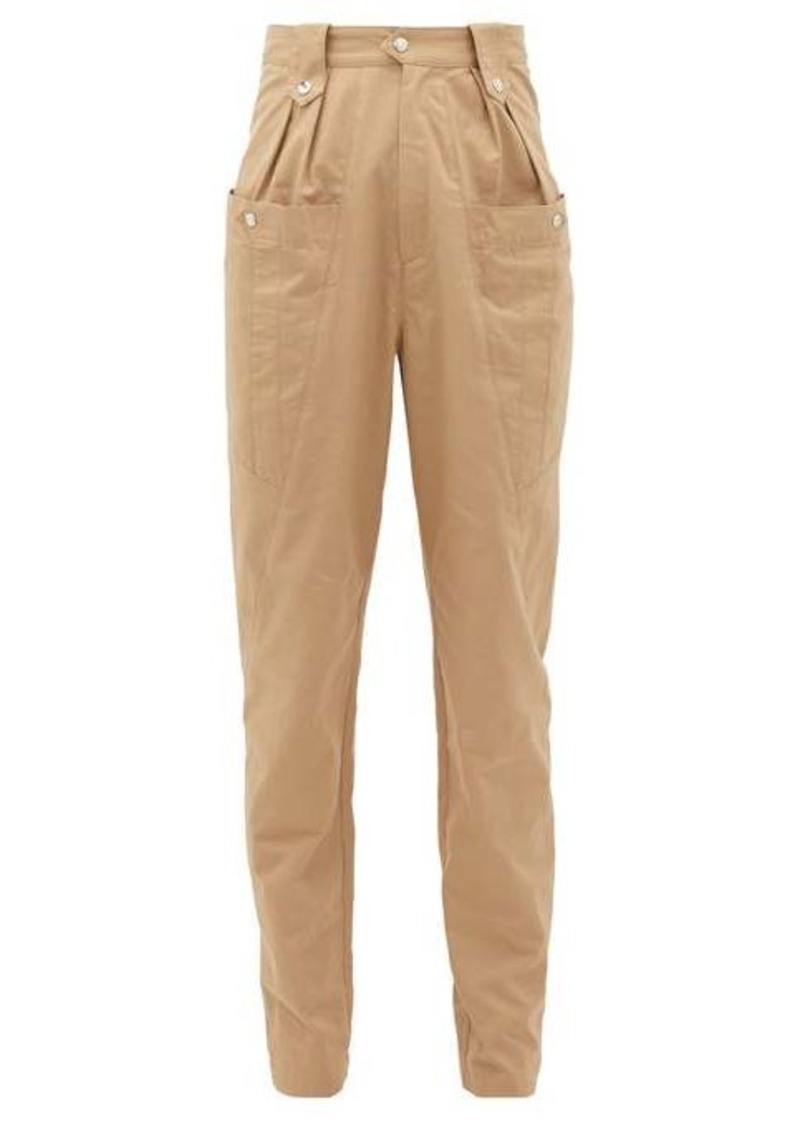 Isabel Marant Yerris high-rise slubbed-cotton trousers
