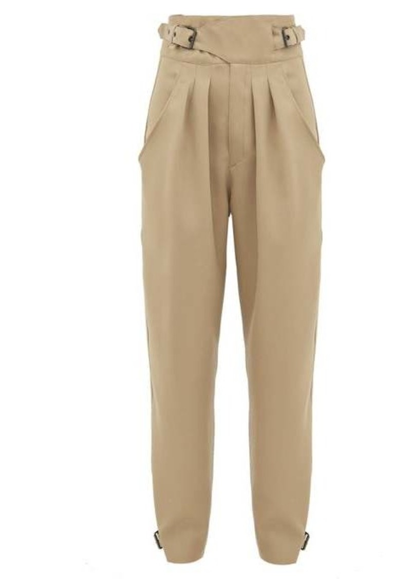 Isabel Marant Yurnelia buckled wool trousers