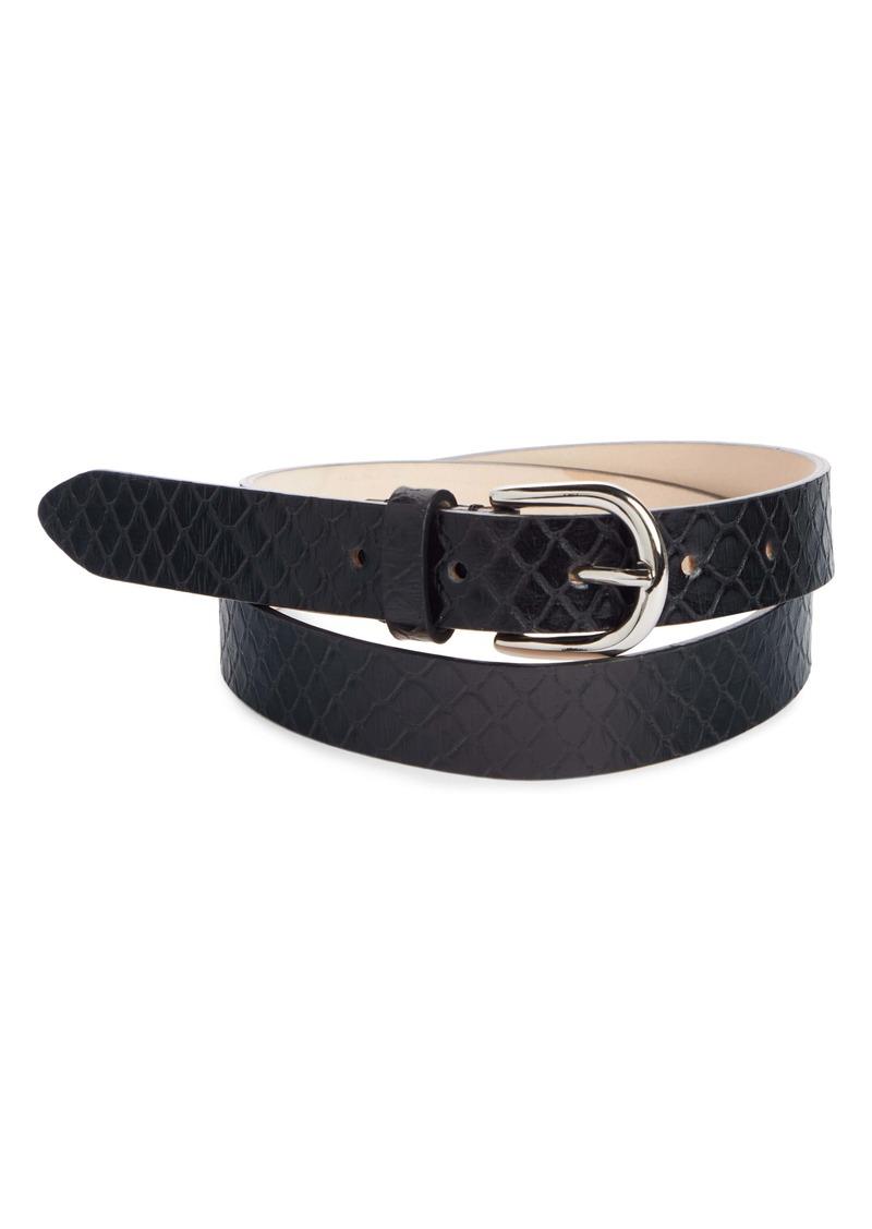 Isabel Marant Zap Snake Embossed Leather Belt