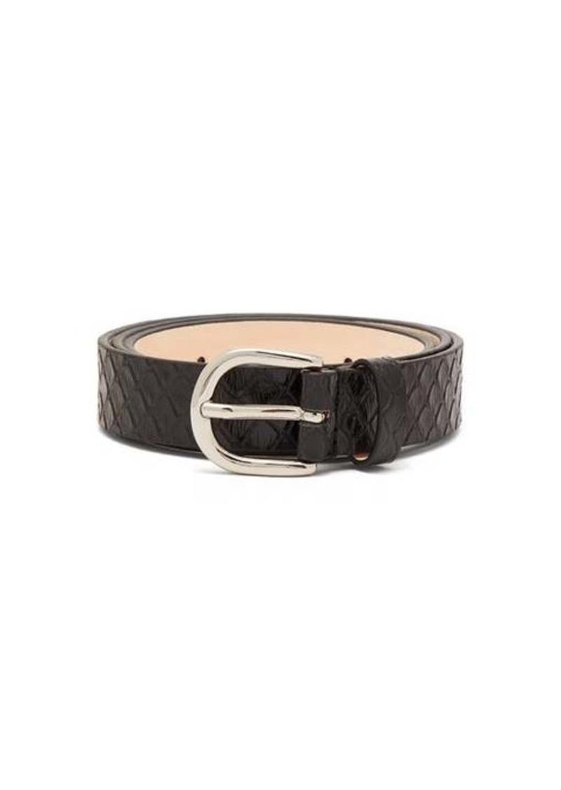 Isabel Marant Zap snakeskin-effect leather belt
