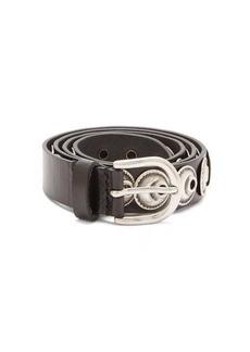 Isabel Marant Zappi moon-studded leather belt