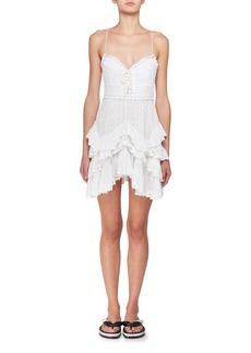 Isabel Marant Zowie Deep-V Sleeveless Crochet Lace Mini Dress
